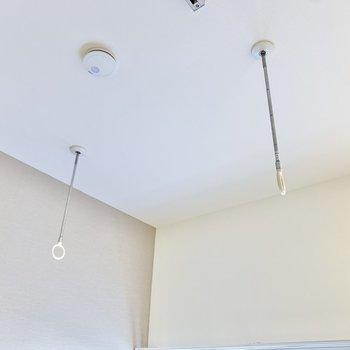 室内干しのできるポールを設置しています!
