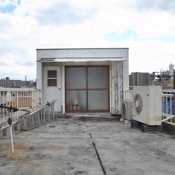 出入り口の右となりの物入れを開けると、洗濯機置き場がありました。