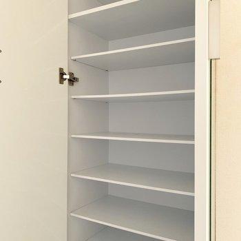 大容量のシューズボックス◎(※写真は3階の反転間取り別部屋のものです)