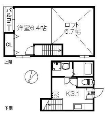 ポラリス井尻駅南の間取り