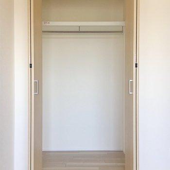 【洋室】一番大きいクローゼットです。ここは洋服収納かな?