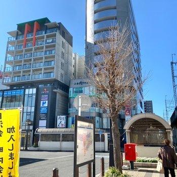 朝霞台駅の南口側が近かったです。