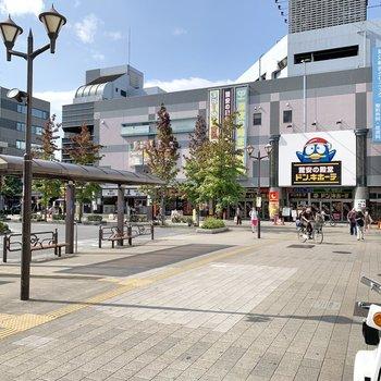 瑞江駅前には大型ディスカウントストアも。