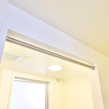 こちらもドアはなく、カーテンが引ける仕様。