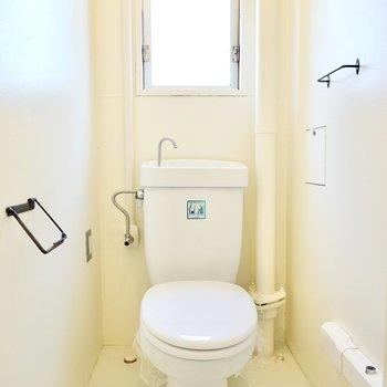 トイレも同じくシンプルですが、アイアンの小物でこだわりをプラス。