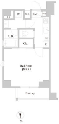 B CITY APARTMENT ITABASHI NORTHの間取り