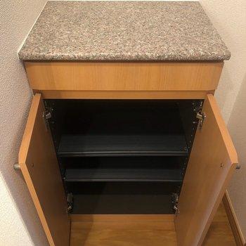 シューズボックスは小さめだけど、普段使わないものは、袋に入れてクローゼットに置いてもいいかも。(※写真は13階の同間取り別部屋のものです)