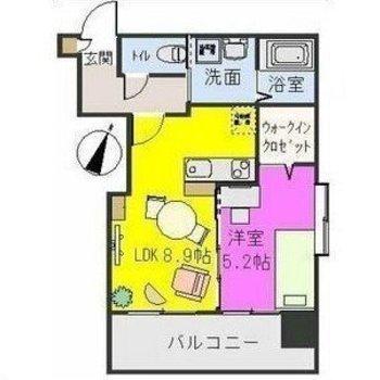 家具の配置が書かれていて、想像しやすい!