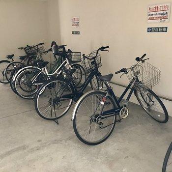 駐輪場はオートロックの中に。