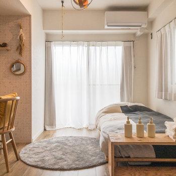 海外の別荘にいるかのような爽やかな雰囲気がグッドです。※家具・小物はサンプルです