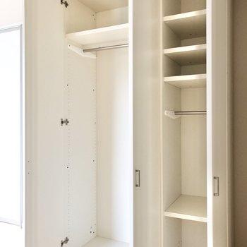 【洋室 約7帖】小物も収納しやすいクローゼット。