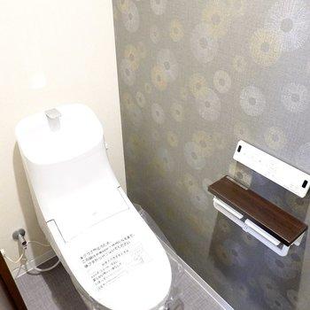 スタイリッシュなトイレはウォシュレット付き!一味違う空間が楽しめます。