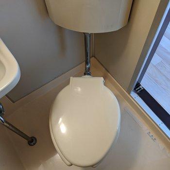 シンプルな形のトイレです。