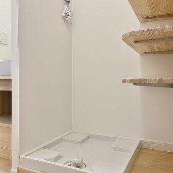 洗濯機はこちらに置けますよ。※写真は前回募集時のもの