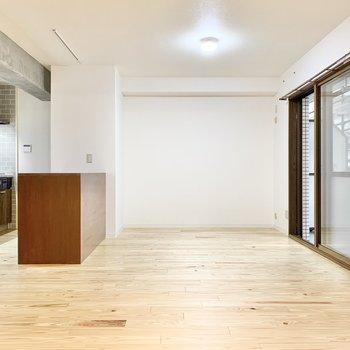 ヴィンテージの家具や北欧インテリアが似合いそう。