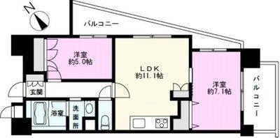 コアマンションフリージオ上野の間取り