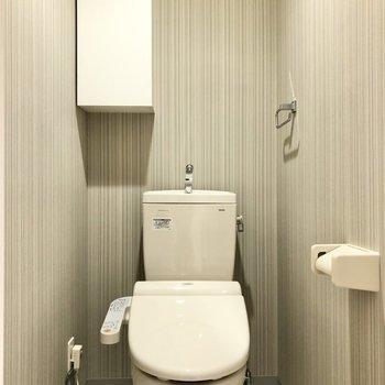 トイレはウォシュレットも付いていて快適♪(※写真は3階同間取り別部屋のものです)