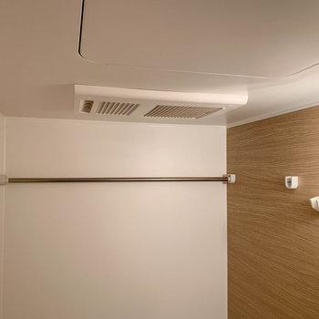 浴室乾燥や暖房も付いています。洗濯物はここで干せます。