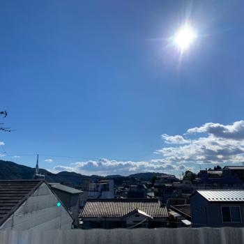 【洋室②】青空が綺麗でした〜。