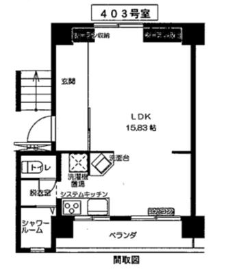 小鷺田団地の間取り図