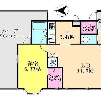 全体的にゆったりとしたお部屋です。