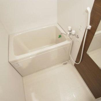 お風呂も清潔感ありますね。(※写真は3階の反転間取り別部屋のものです)