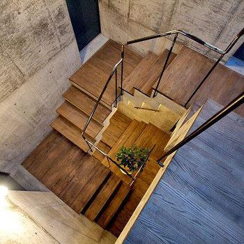 この階段を、てこてこ登って自分のお部屋へ。