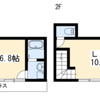 2階建ての1LDKです〜!