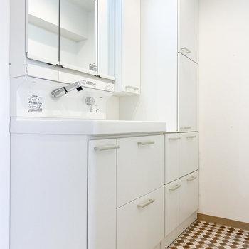 収納が充実した独立洗面台