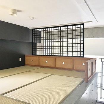 和室がちょこんとありました。モダンな雰囲気!(※写真は3階の同間取り別部屋のものです)