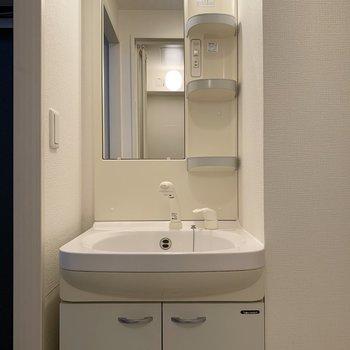 洗面台も使い勝手良さそう!(※写真は5階の同間取り別部屋のものです)