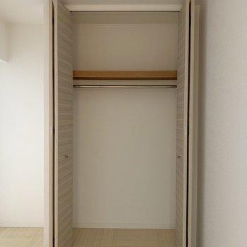 クローゼットは大きめ(※写真は5階の同間取り別部屋のものです)