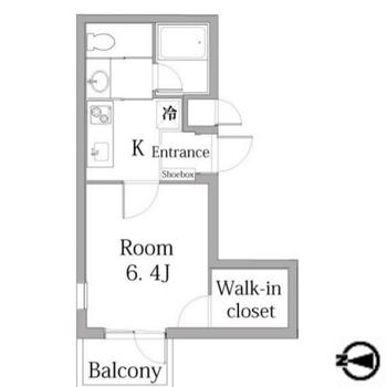 1人暮らしにぴったりな1Kのお部屋です