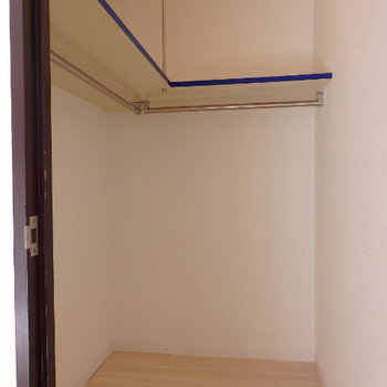 居室の奥にはウォークインクローゼットあります