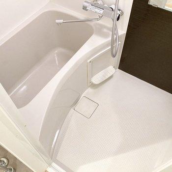 身体を洗うスペースもあります。