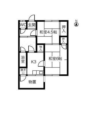 稲島10丁目植田貸家A102号室の間取り