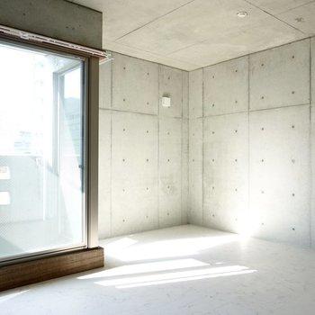"""""""魅せる""""収納で飾り付けたい、コンクリート打ちっ放しのデザイナーズ空間!(※写真は2階の同間取り別部屋のものです)"""