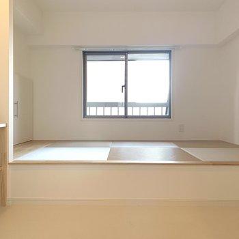 【小上がり畳】家族並んで歯磨きしたりする空間として使いたいですね!
