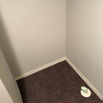 入り口の手前に洗濯機置き場があります。