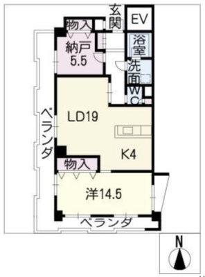 財形千代田マンション 6A号室の間取り