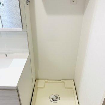 その隣は洗濯機置き場。