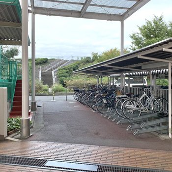 駐輪場、バイク置き場はズラッと。(空き要確認)