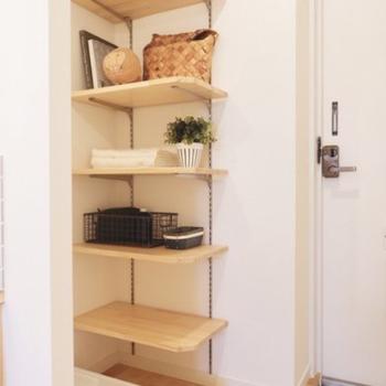 【イメージ】洗濯機置場は玄関入ってすぐ!玄関収納は可動式です。