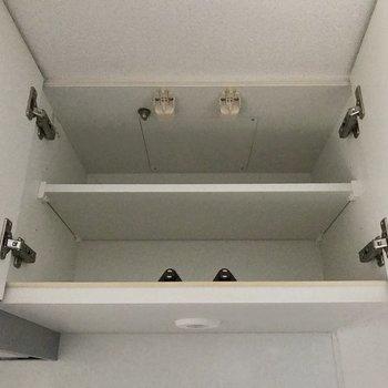 上段には食器や乾物を入れようかな※写真は4階の同間取り別部屋のものです