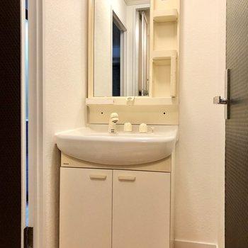 レトロですが洗面台は独立タイプ。