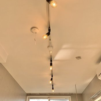 ライティングレールでオシャレに照らします。