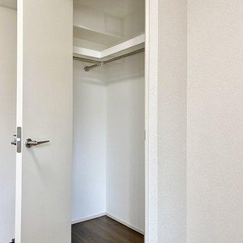 お部屋の中に飛び出したようなクローゼット。※写真は3階の同間取り別部屋のものです