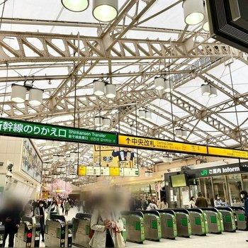 上野駅中央改札。さすがの賑わいですね。