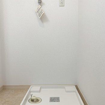 洗濯パンは脱衣所に。(※写真は8階の同間取り別部屋、清掃前のものです)
