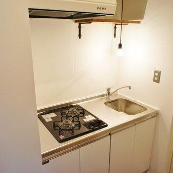 キッチン、2口で使いやすそう! ※写真は前回募集時のものです